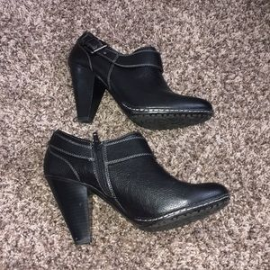 Sofft Shoes - Euro Sofft Black Heeled Shannon Booties